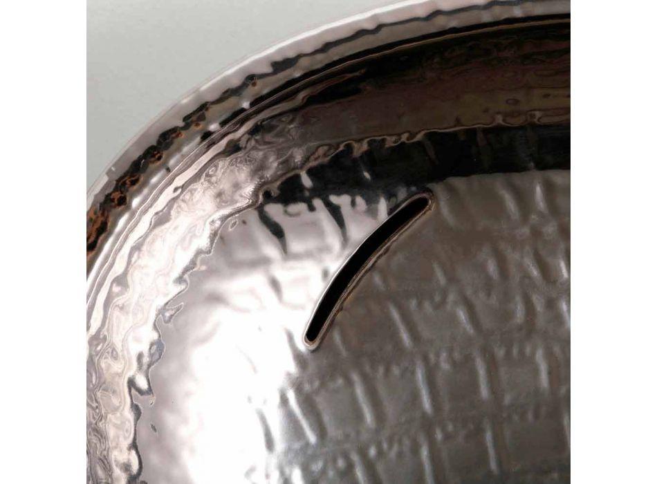 Design de cerâmica lavatório de prata feita na Itália brilhante