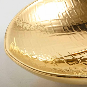 Lavatório de cerâmica design de bancada de ouro feito na Itália Animais