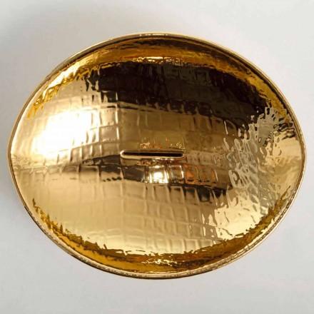 Bacia de cerâmica dourada bacia Animais, feitos na Itália, design moderno