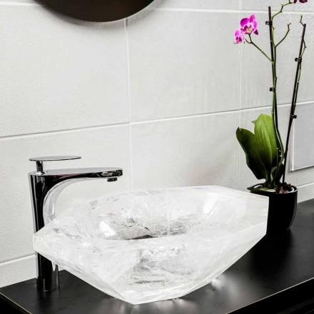 Lavatório de apoio artesanal em cristal de rocha - Falvaterra