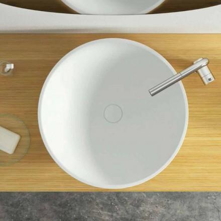 Lavatório de bancada circular design moderno feito na Itália, Donnas