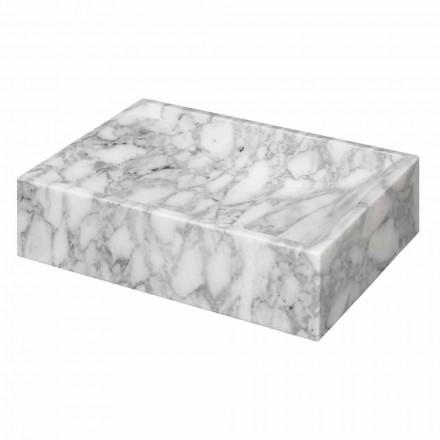 Mármore quadrado do lavatório de bancada Carrara Ma de na Itália - Canova