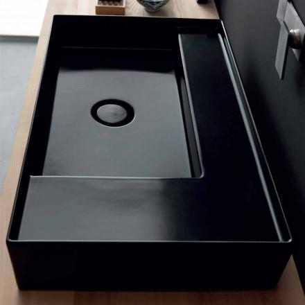 Lavatório de apoio de cerâmica preta Icon by Alice Ceramica