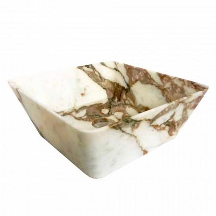 Lavatório de bancada moderno em mármore Calacatta do Made in Italy Design - Kuore