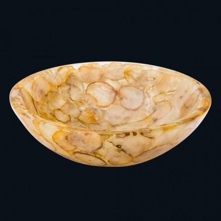 Pia bancada moderna em resina artificial e pedra de ágata Petra