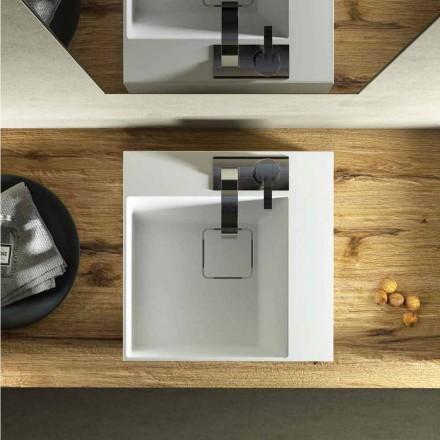 Lavatório de bancada quadrada design moderno feito 100% na Itália, Lavis