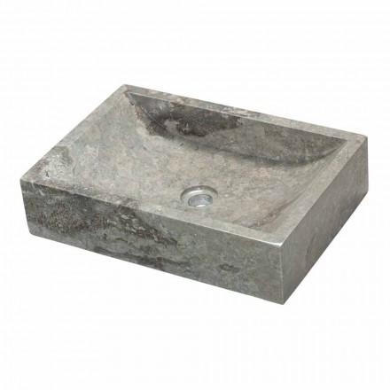 Lavatório de apoio de pedra natural cinza Jakarta