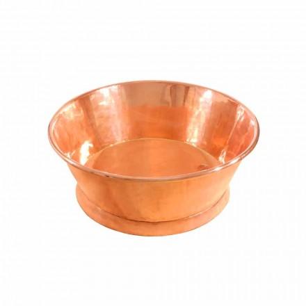 Lavatório de balcão redondo feito de cobre Ania