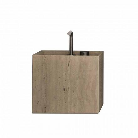 Lavatório de bancada de pedra com bancada de design moderno e quadrado - Farartlav 2