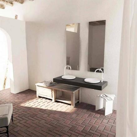 Design moderno redondo lavatório de apoio Crema, feito na Itália