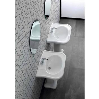 Lavatório parede ou com cerâmica coluna L70cm feito na Itália Avise