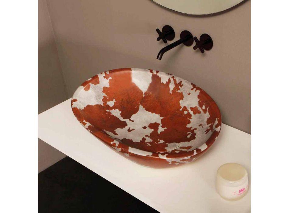 Lavatório de cerâmica com suporte feito em Itália Glossy