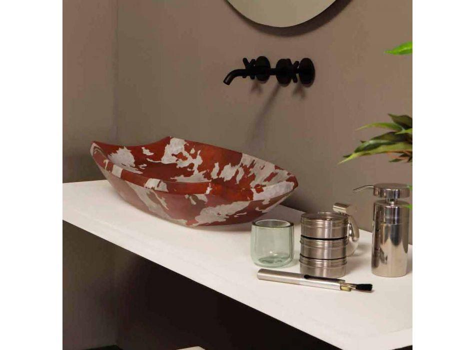 Lavatório de cerâmica de design feito na Itália Laura