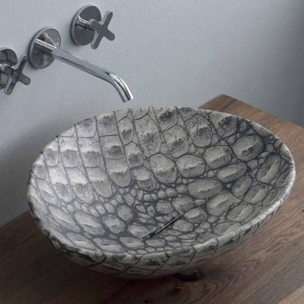 Lavatório de cerâmica de design produzido na Itália Animais