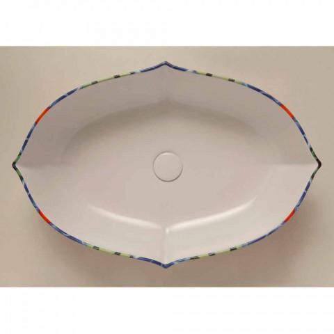 Lavatório de cerâmica de design, feito em Itália Oscar