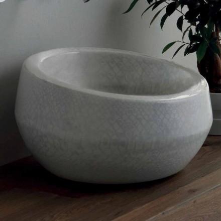 Lavatório de bancada de design em cerâmica python made in Italy Elisa