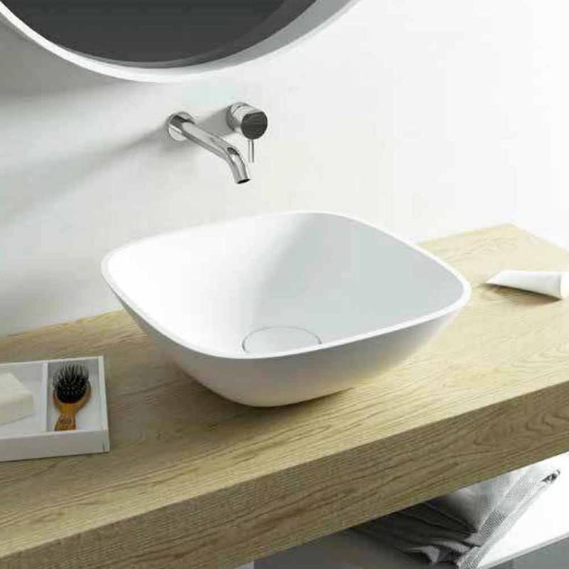 Lavatório autônomo ba banheiro quadrado made in Italy Taormina Mini