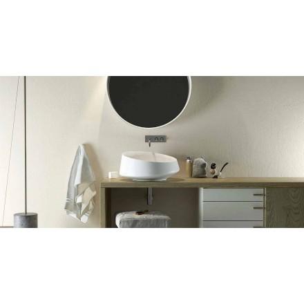 Lavatório de bancada Design Solid Surface feito na Itália, Dongo