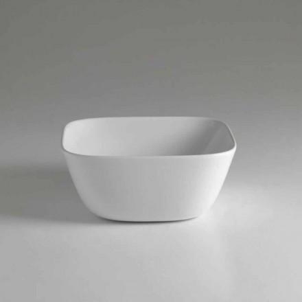Made in Italy Lavatório de apoio quadrado de cerâmica - Sonne
