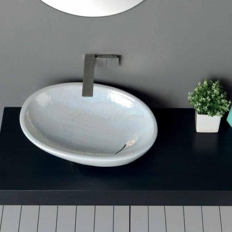 Lavatório de apoio em madrepérola com design moderno feito em Itália