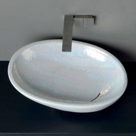 Bacia de madrepérola de bancada de design moderno feita na Itália brilhante