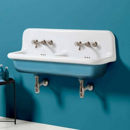 Jack lavatório de parede dupla vintage em cerâmica