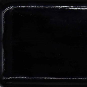 Bacia de um único furo em cerâmica colorida para suporte e recesso Capri