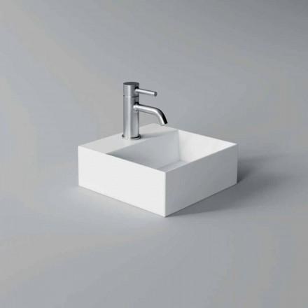 Lavatório de cerâmica quadrado ou retangular de design moderno fabricado na Itália - ato