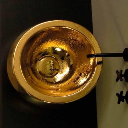 Pia de cerâmica redonda de ouro Elisa, fabricada na Itália