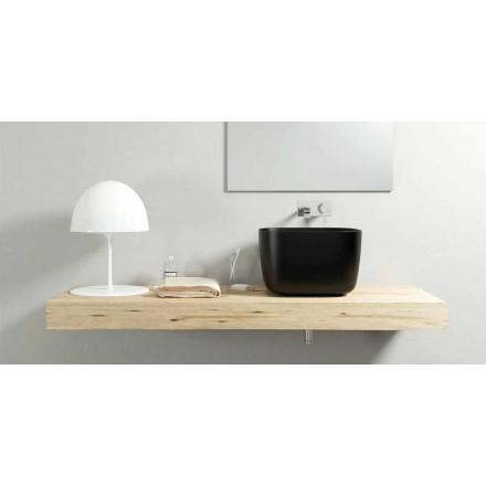 Pia de bancada de bancada de design moderno feita 100% na Itália, Lallio
