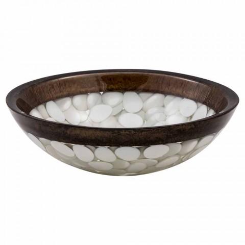Pia artesanal circular em resina, Buguggiate