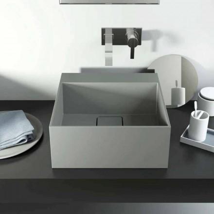 Lavatório de bancada de design moderno produzido 100% na Itália, Lavis