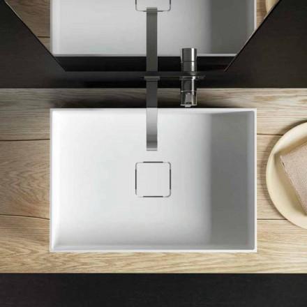 Pia de bancada de design moderno, produzido 100% na Itália, Lavis