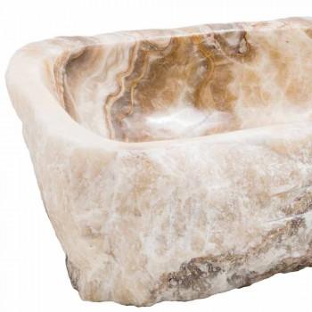 Pia moderna bancada em pedra de ônix artesanal, Buttrio