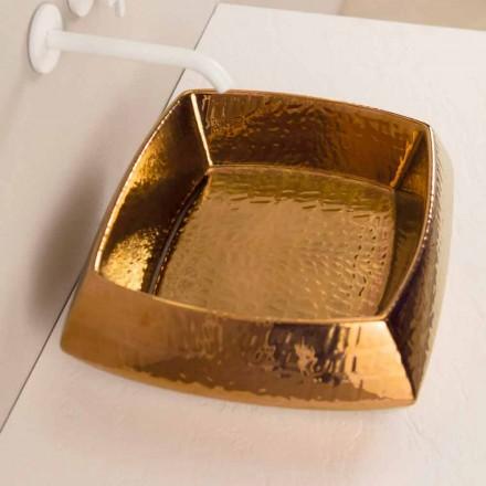 Pia de bronze de cerâmica pia Simon, design moderno feito na Itália