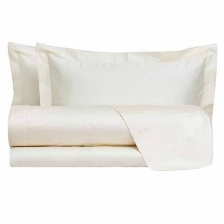 Folhas de cores sólidas completas em algodão acetinado para cama de casal - Hibiscus