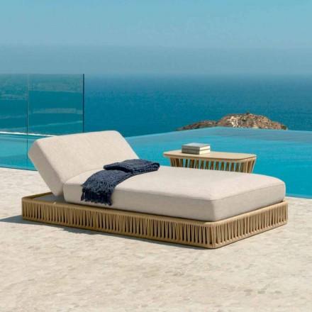 Espreguiçadeira reclinável ao ar livre Cliff Talenti, design Palomba