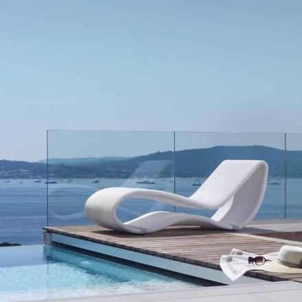 Espreguiçadeira de jardim com design branco Breez 2.0 by Talenti