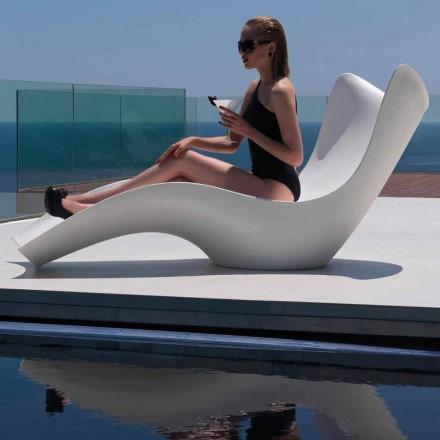 Espreguiçadeira moderna ao ar livre, em polietileno, Surf by Vondom, 2 pedaços