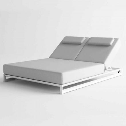 Espreguiçadeira ao ar livre em alumínio e tecido - Gioacchino