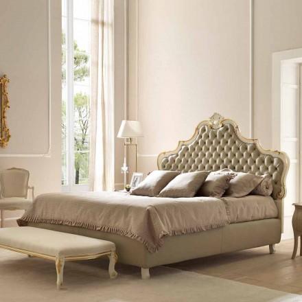 Cama de casal com recipiente para cama, design clássico, Chantal by Bolzan