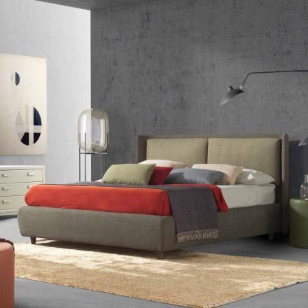 Cama de casal com recipiente de cama, design moderno, Kate by Bolzan