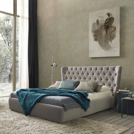 Cama de casal sem caixa, design contemporâneo, Selene by Bolzan