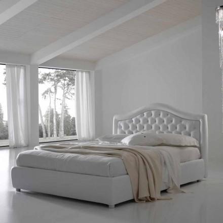 Cama de casal com recipiente, design clássico Capri by Bolzan