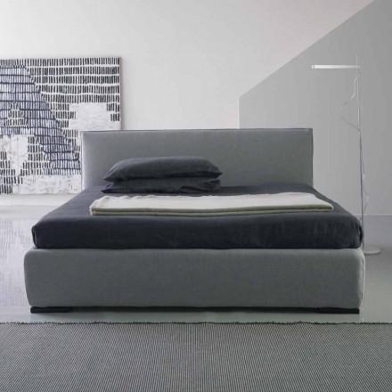 Cama de casal moderna, sem recipiente para cama, Gaya New by Bolzan