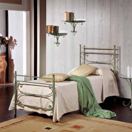 Cama de solteiro em ferro forjado italiano Leila, design clássico