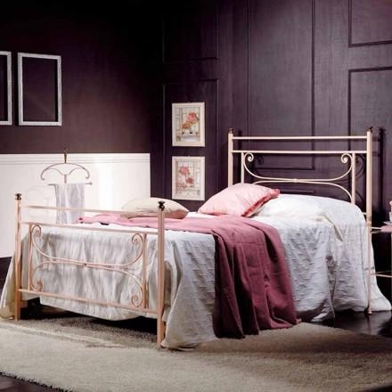 Italiano ferro forjado pequena cama de casal Claudia, design clássico