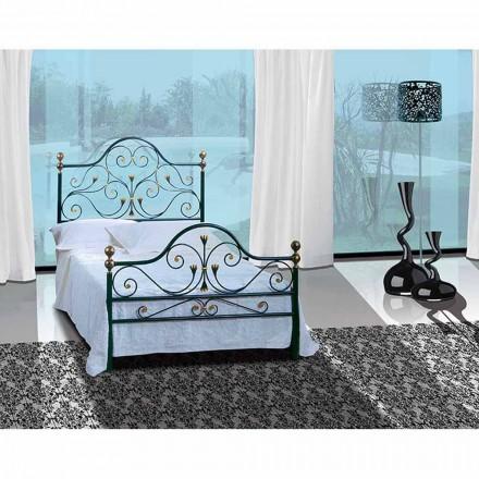 Pequena cama de casal de ferro forjado Fenice