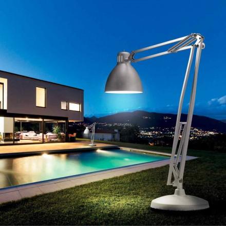 Leucos A grande lâmpada de assoalho de design exterior JJ feita de alumínio