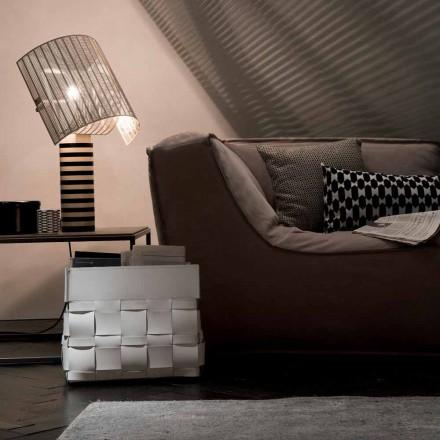 Porta-revistas de couro Lory design de parede, fabricada na Itália